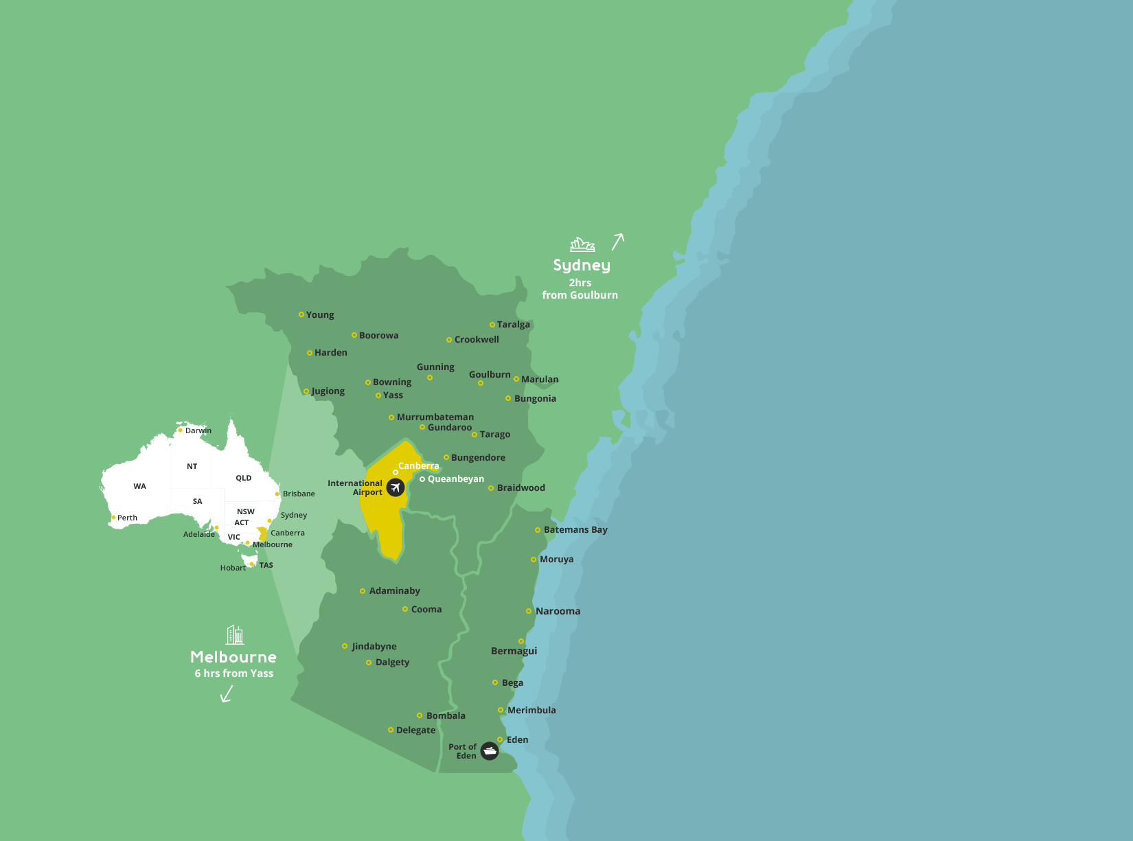 Goulburn Map